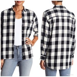 [Madewell] Oversized Flannel Long Sleeve Shirt